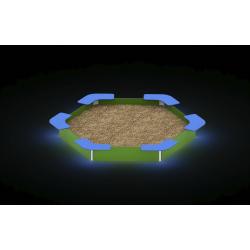 0052 - Песочница 358 x 318 x 37 cm