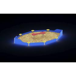 0055 - Песочница 332 x 540 x 60 cm