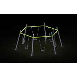0081 - Качели 615 x 537 x 267 cm