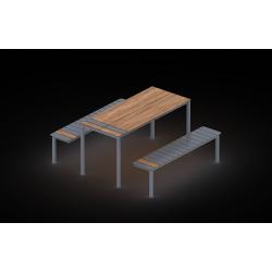 0203 - Скамья 185 x 161 x 80 cm