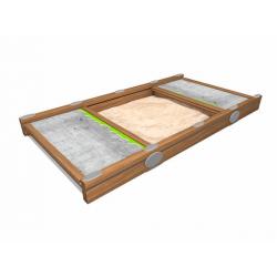 0290 - Песочница 203 x 382 x 30 cm