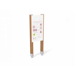 0292 - Информационный щит 55 x 10 x 170 cm