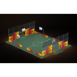 0465 - Спортивная площадка 2076 x 1456 x 514 cm