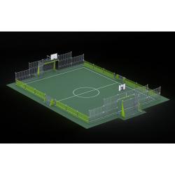 0466 - Спортивная площадка 2076 x 1420 x 384 cm